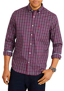 Classic Fit Long Sleeve Plaid Button Down