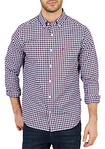 Nautica Classic Fit Long Sleeve Plaid Button Down