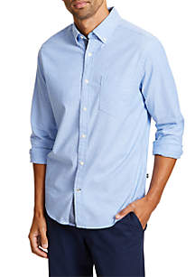 Classic Fit Long Sleeve Stretch Oxford Button Down