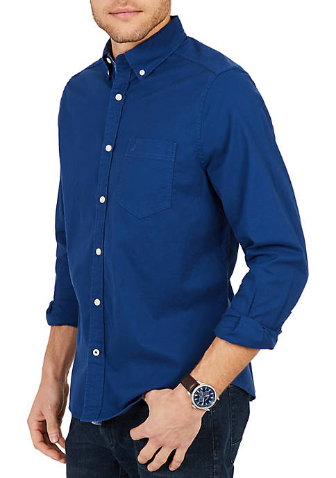 Nautica Classic Fit Long Sleeve Stretch Oxford Button