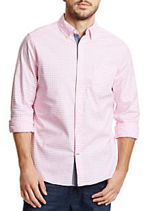 Classic Fit Oxford Gingham Button Down Shirt