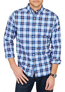 Classic Fit Casual Long Sleeve Brushed Twill Button Down Shirt
