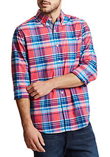 Nautica Plaid Classic Fit Button Down Shirt
