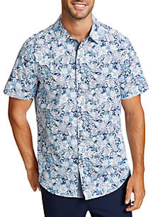 Pineapple and Floral Classic Fit Button Down