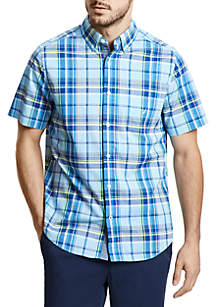 Plaid Classic Fit Short Sleeve Button Down