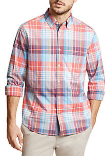 Nautica Plaid Classic Fit Button Down