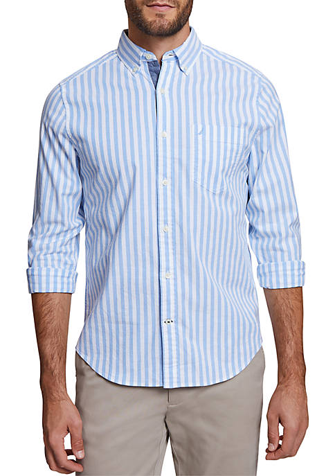 Nautica Long Sleeve Striped Oxford Classic Fit Shirt