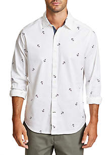 Oxford Anchor Classic Fit Button Down Shirt