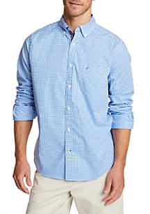 Nautica Gingham Long Sleeve Classic Fit Shirt