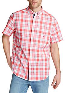 Nautica Plaid Classic Fit Short Sleeve Shirt