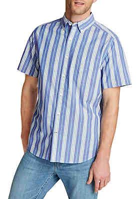 babf454829 Nautica Striped Classic Fit Short Sleeve Shirt ...