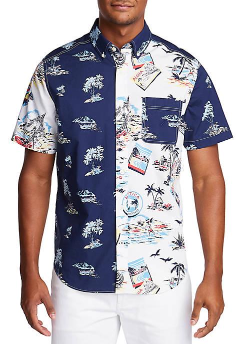 Nautica Short Sleeve Island Breeze Classic Fit Shirt