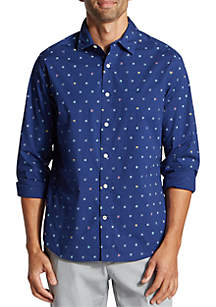 Nautica Long Sleeve Novelty Button Down Shirt