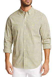 Nautica Long Sleeve Navtech Plaid Classic Fit Shirt