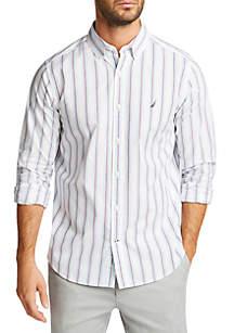 Nautica Long Sleeve Striped Button Down Shirt