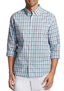 Nautica Long Sleeve Plaid Button Down Shirt