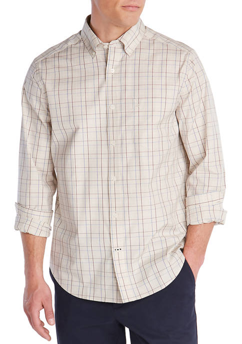 Nautica Mens Navtech Classic Fit Wrinkle Resistant Shirt