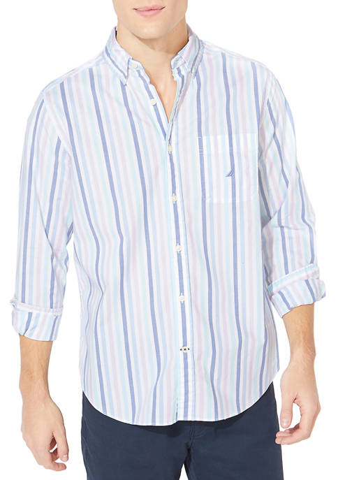 Nautica Oxford Stripe Button Down Shirt