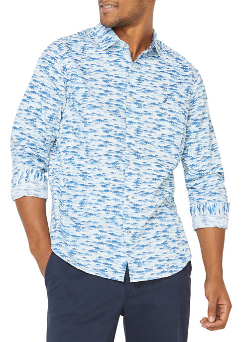 Nautica Casual Print Button Down Shirt
