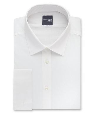 6251a92f4e8 Madison Stretch Poplin French Cuff Solid Dress Shirt
