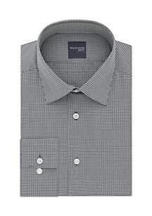 Long Sleeve Slim Fit Check Dobby Dress Shirt