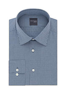 Long Sleeve Slim Fit Check Dobby Dress Shirt