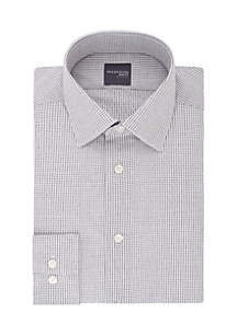 Slim Stretch Dobby Check Button Down Shirt