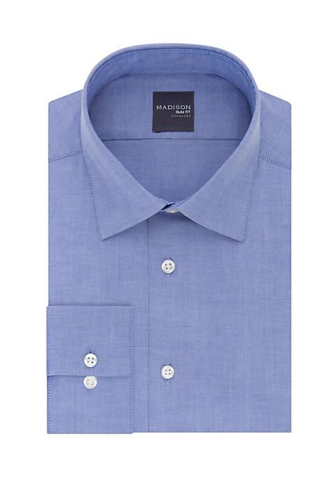 Madison Long Sleeve Slim Stretch Solid Dress Shirt