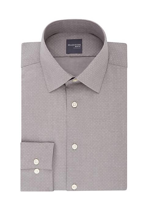 Madison Slim Stretch Dobby Dot Button Down Shirt