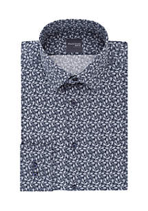Slim Stretch Paisley Print Button Down Shirt