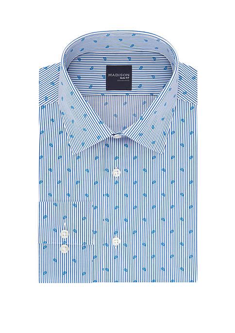 Slim Fit Printed Dress Shirt