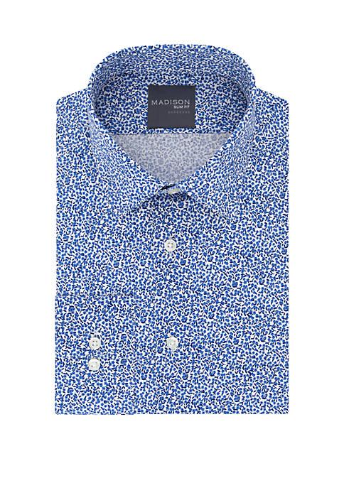 Madison Slim Fit Floral Print Dress Shirt