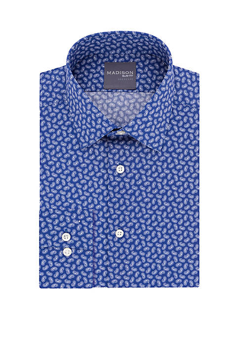 Slim Fit Dynamic Cooling Stretch Paisley Dress Shirt