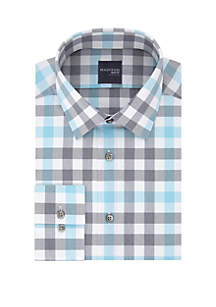 Madison Slim Fit Dynamic Cooling Stretch Check Dress Shirt