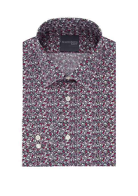 Slim Fit Dynamic Cooling Stretch Floral Dress Shirt