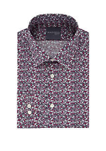 Madison Slim Fit Dynamic Cooling Stretch Floral Dress Shirt