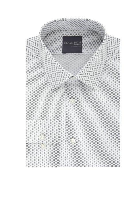 Madison Slim Fit Stretch Dot Dress Shirt
