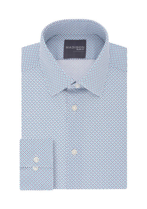 Dynamic Cooling Slim Fit Printed Dress Shirt