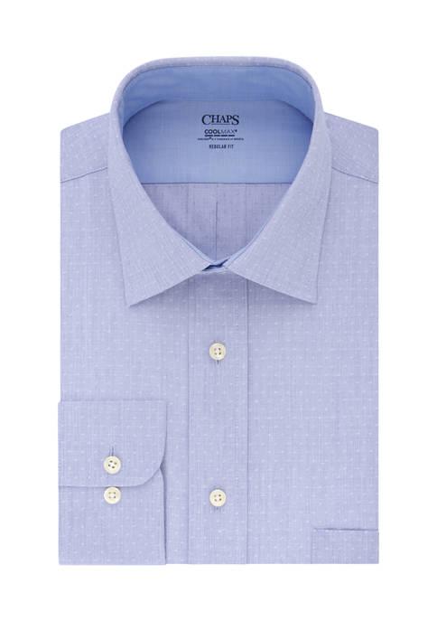 Chaps Regular Fit Stretch Collar Cool Max Dress