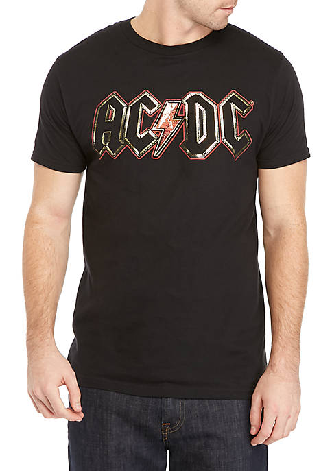 ACDC AC/DC Gold Foil Short Sleeve Shirt