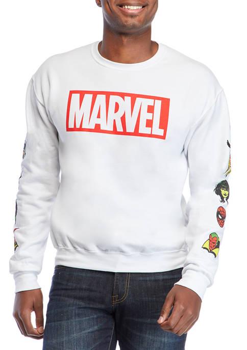 Marvel Crew Neck Fleece Graphic Pullover