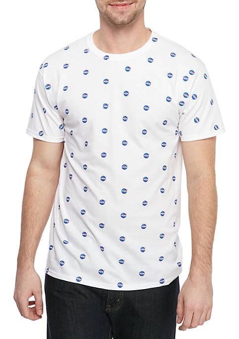 C-LIFE NASA Allover Printed T Shirt