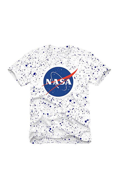 C-LIFE Speckled NASA Short Sleeve T-Shirt
