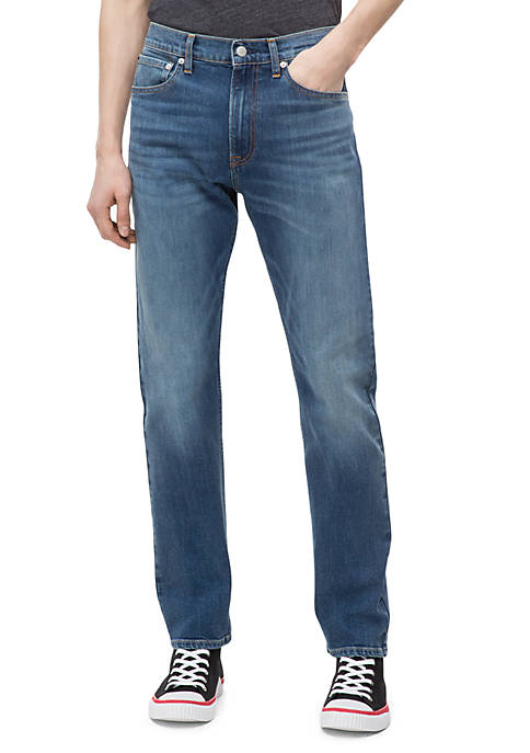 Calvin Klein Jeans Straight Mid Blue Jeans