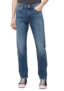 Straight Mid Blue Jeans