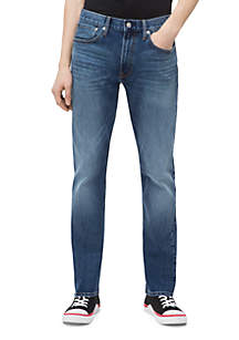 Athletic Taper Mid Blue Jeans