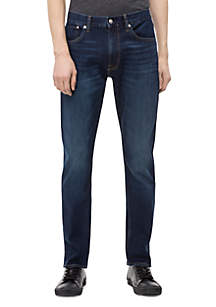 Athletic Taper Dark Blue Jeans