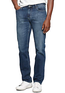 Slim-Fit Straight-Leg Jeans