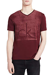 Short Sleeve Fog Knock Out V-Neck Shirt