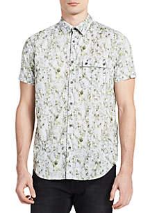 Short Sleeve Kaleidoscope Print Shirt